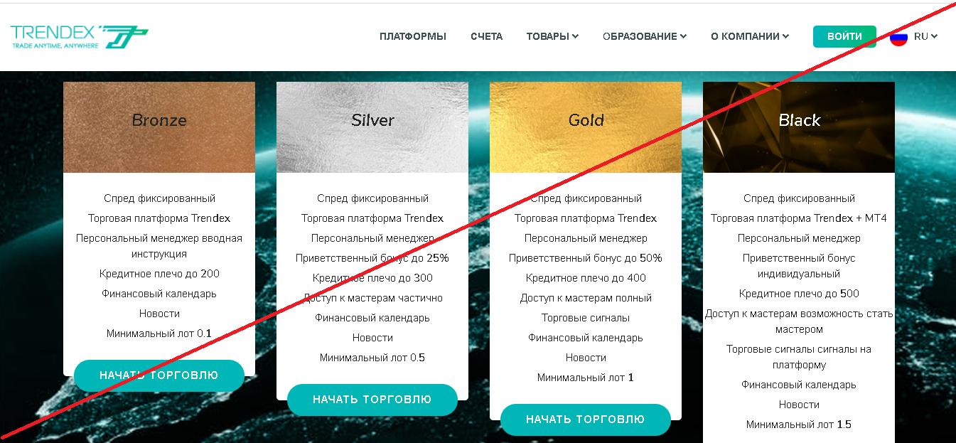 Trendex - Лохотрон