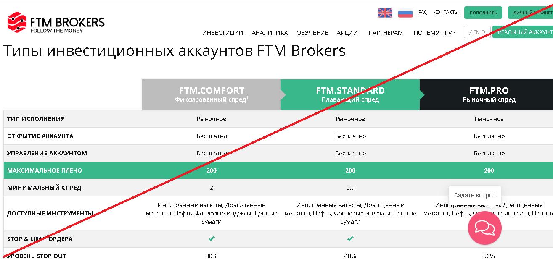 FTM Brokers - Мошенники