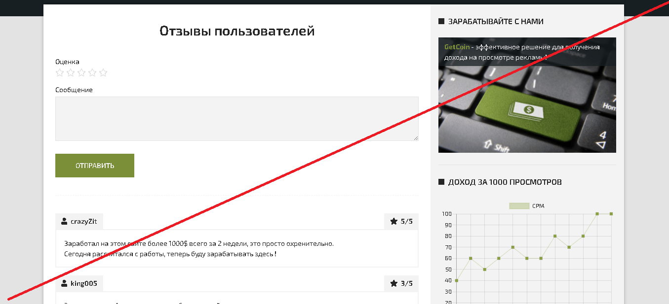GetCoin - Лохотрон