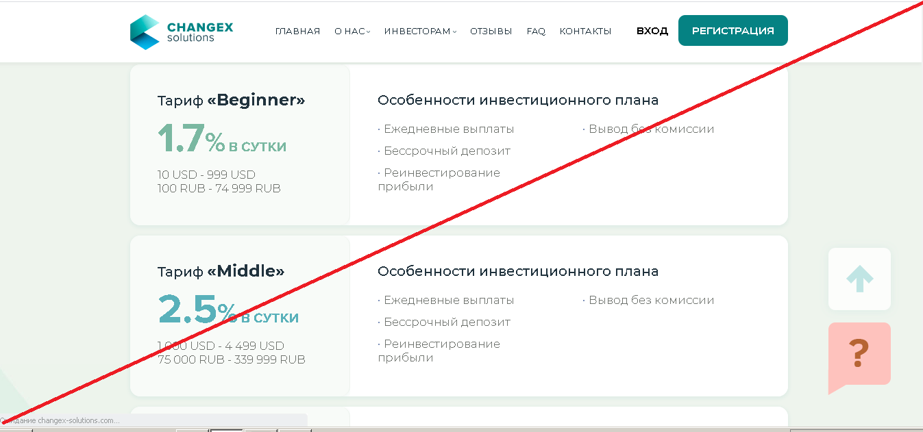 ChangeX Solutions - Лохотрон