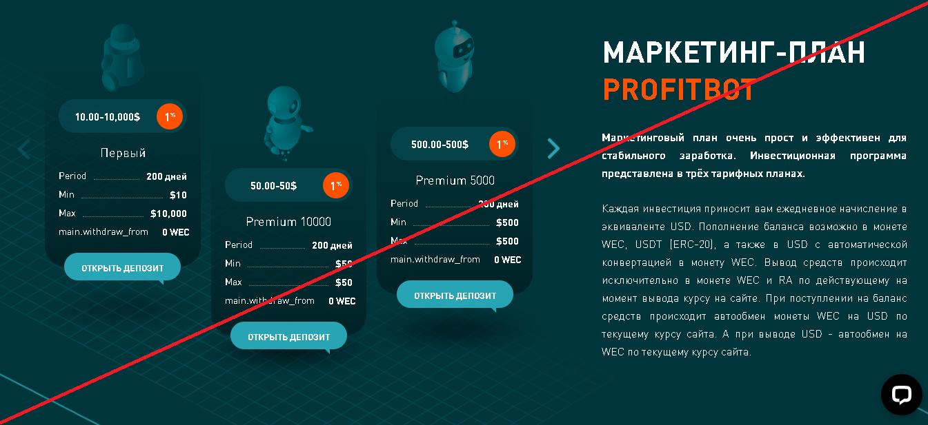 Profitbot - Мошенники