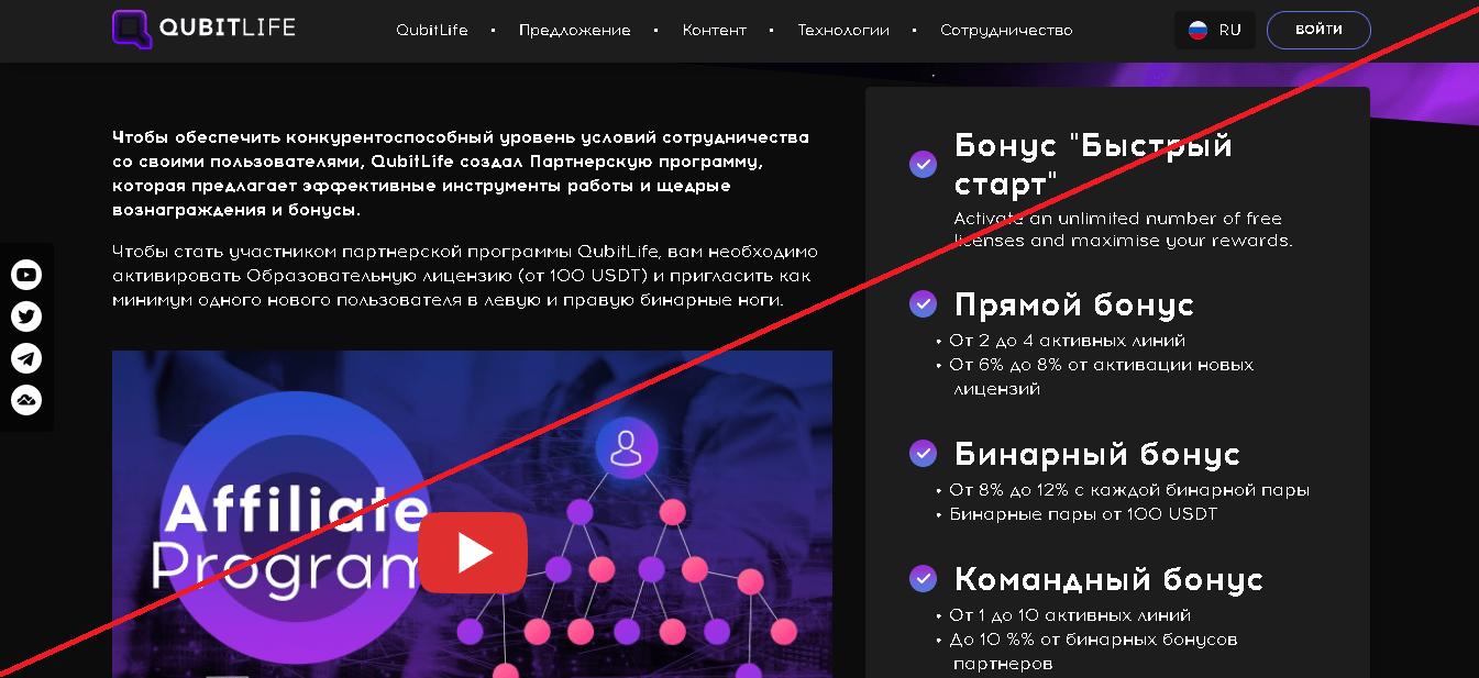 QubitLife - Лохотрон
