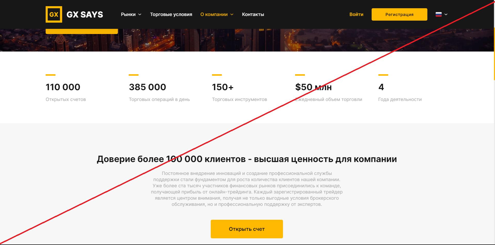 GX Says - Мошенники