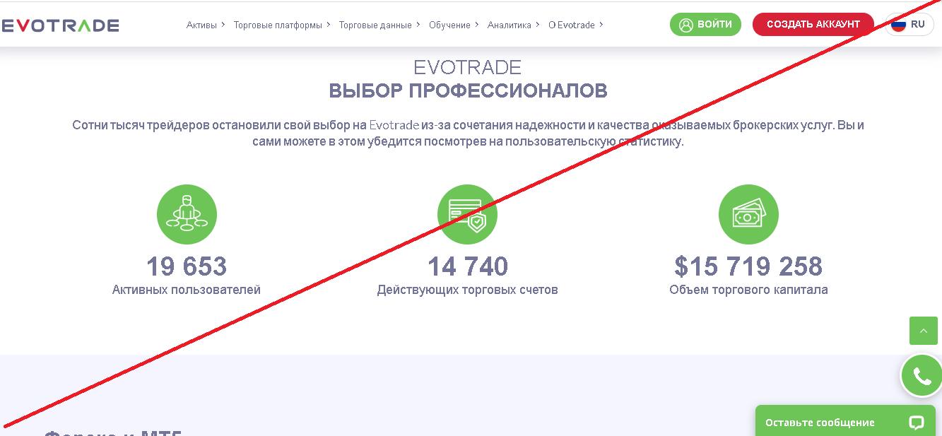 Evotrade - Мошенники