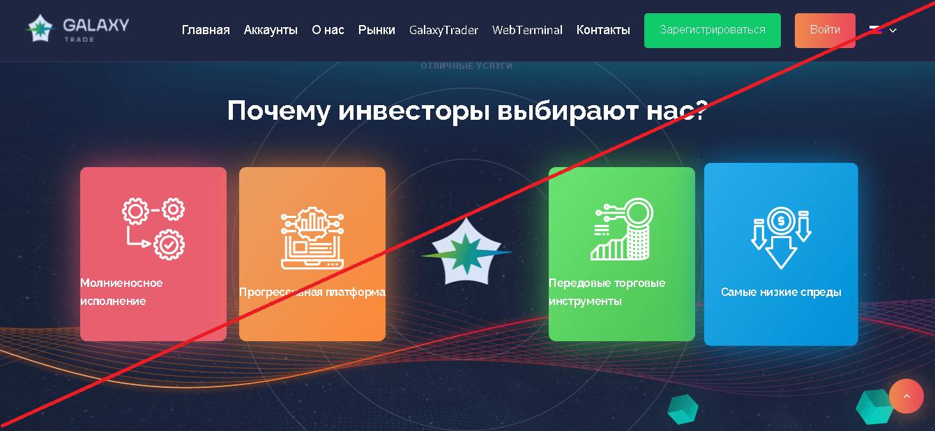 GalaxyTrade - Лохотрон