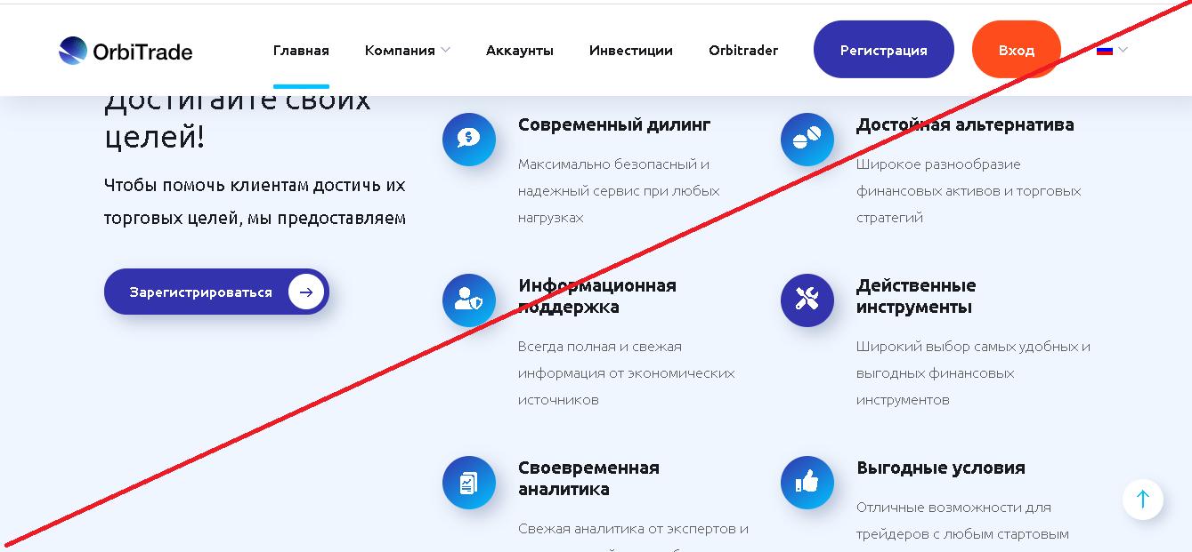 OrbiTrade - Мошенники