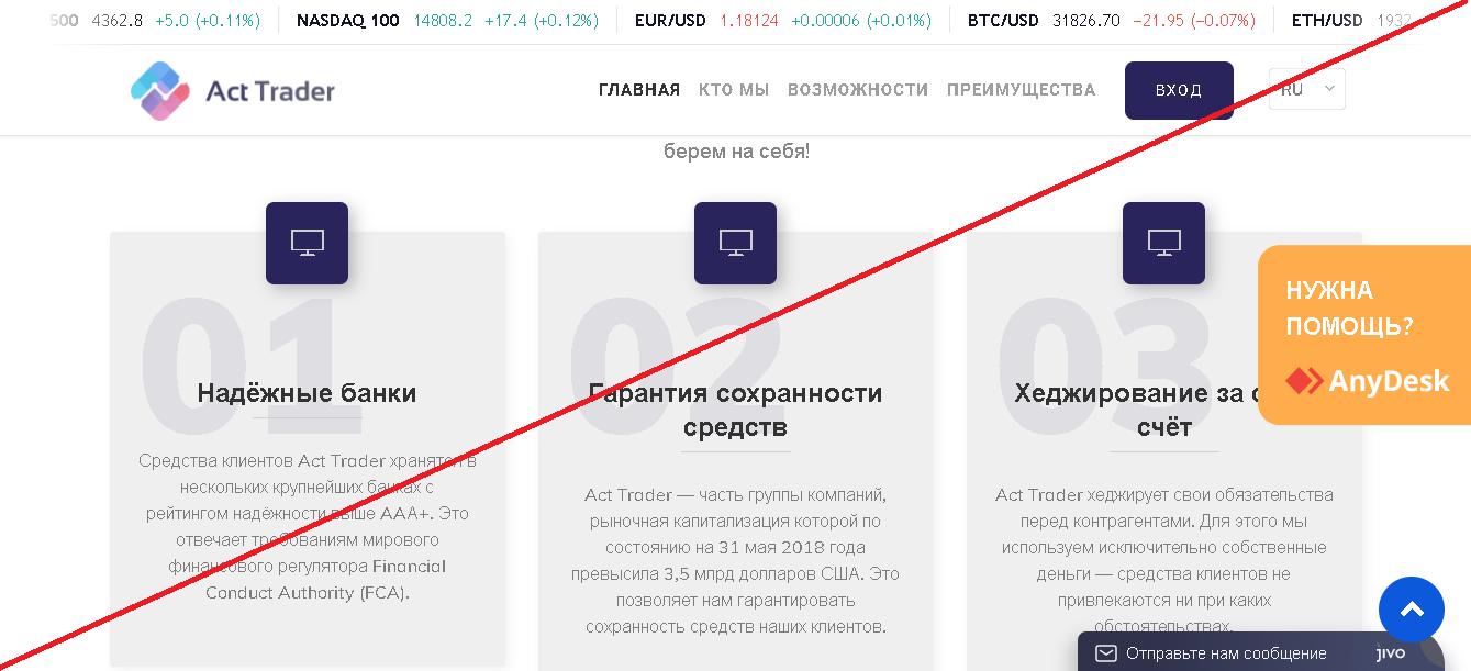 ActTrader - Мошенники