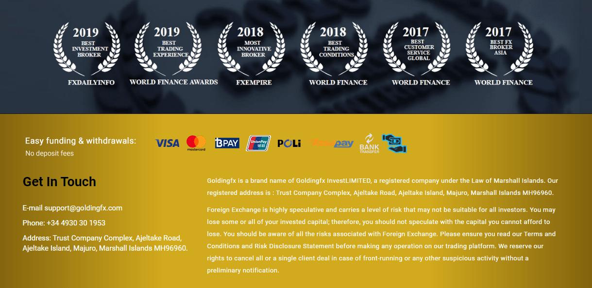 GoldingFX награды