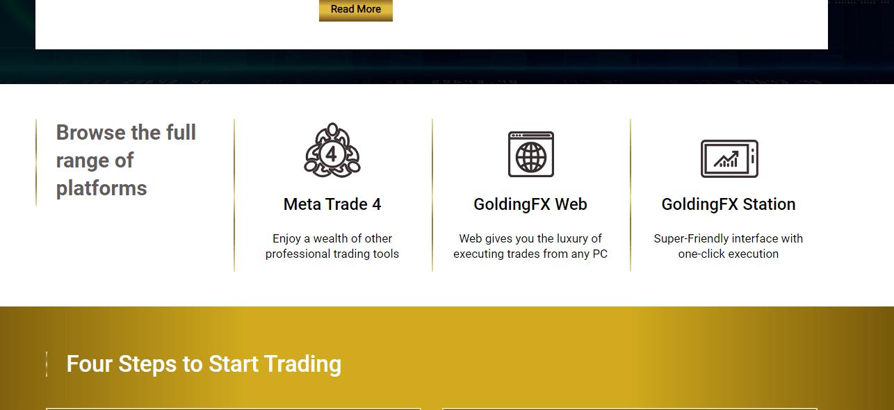 GoldingFX платформы